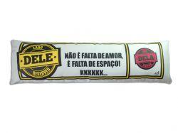 """ALMOFADA DINUGUETE """"LADO DELE/ LADO DELA"""""""